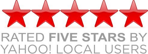 Rated 5 Stars on Yahoo Local