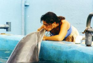 Stacy and the dolphin Elele